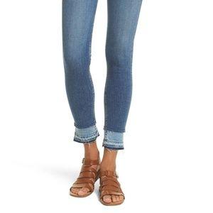 Rag & Bone Contrast Hem Ankle Skinny Jean